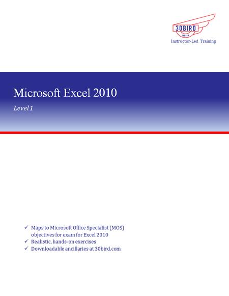 Excel 2010 Level 1