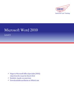 Word 2010 Level 1