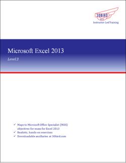 Excel 2013 Level 3